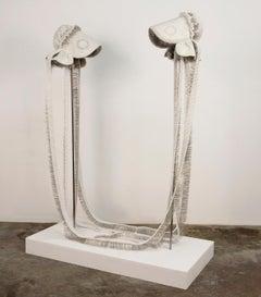 """""""Seer Bonnet XXIV (Sister Sarah) and Seer Bonnet XXV (Sister Maria)"""" sculpture"""