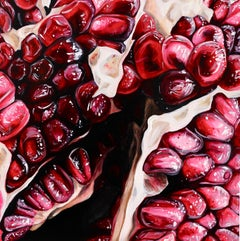 Pomegranate XXXVIII - original fruit oil painting Contemporary Realism abstract