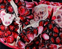Pomegranite XLY - original fruit oil painting Contemporary Art 21st C modern