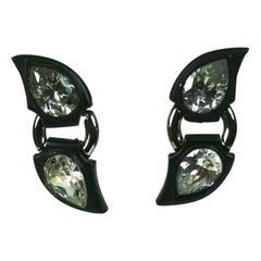 Angela Kramer Blackened Metal Earrings