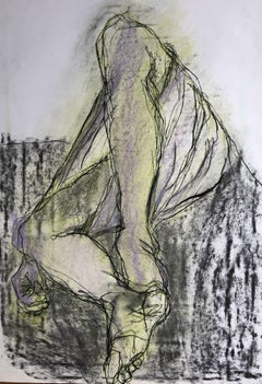 Man In Sarong. Contemporary Mixed Media on paper