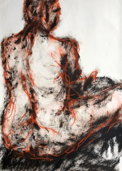 Seated Man. Contemporary Mixed Media on paper