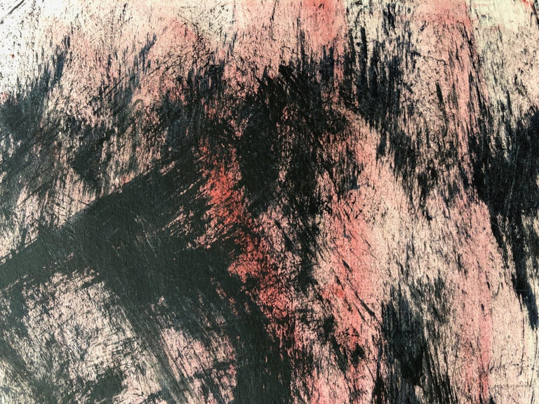 Sleeping Man. Contemporary Mixed Media on paper - Black Nude by Angela Lyle