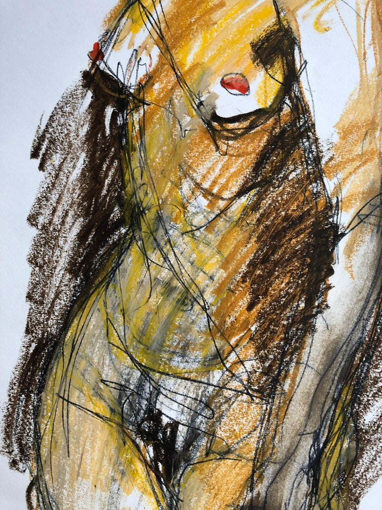 Turning. Contemporary Mixed Media on paper - Painting by Angela Lyle