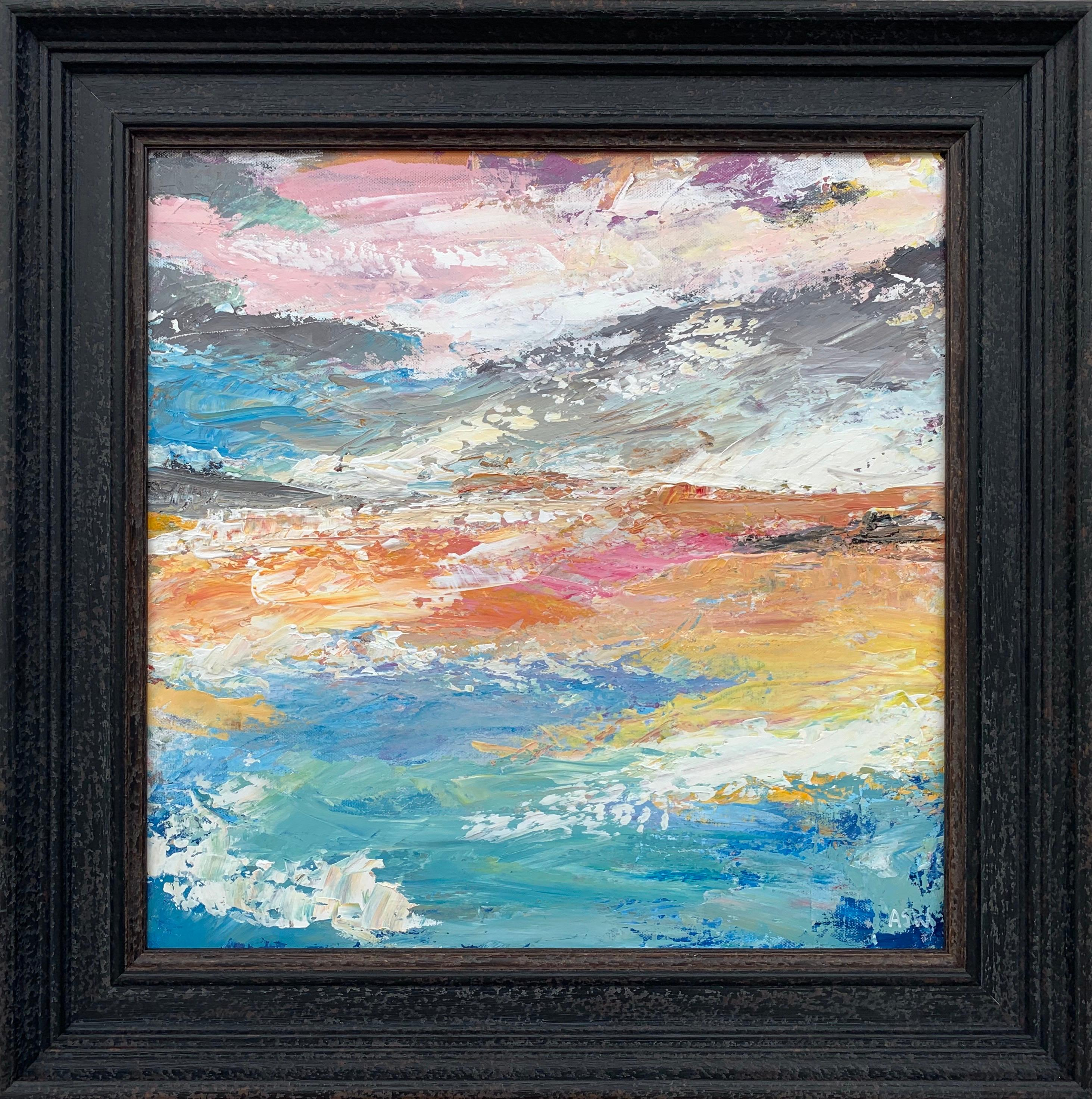Abstract Beach Seascape Landscape Light Colours by Contemporary British Artist