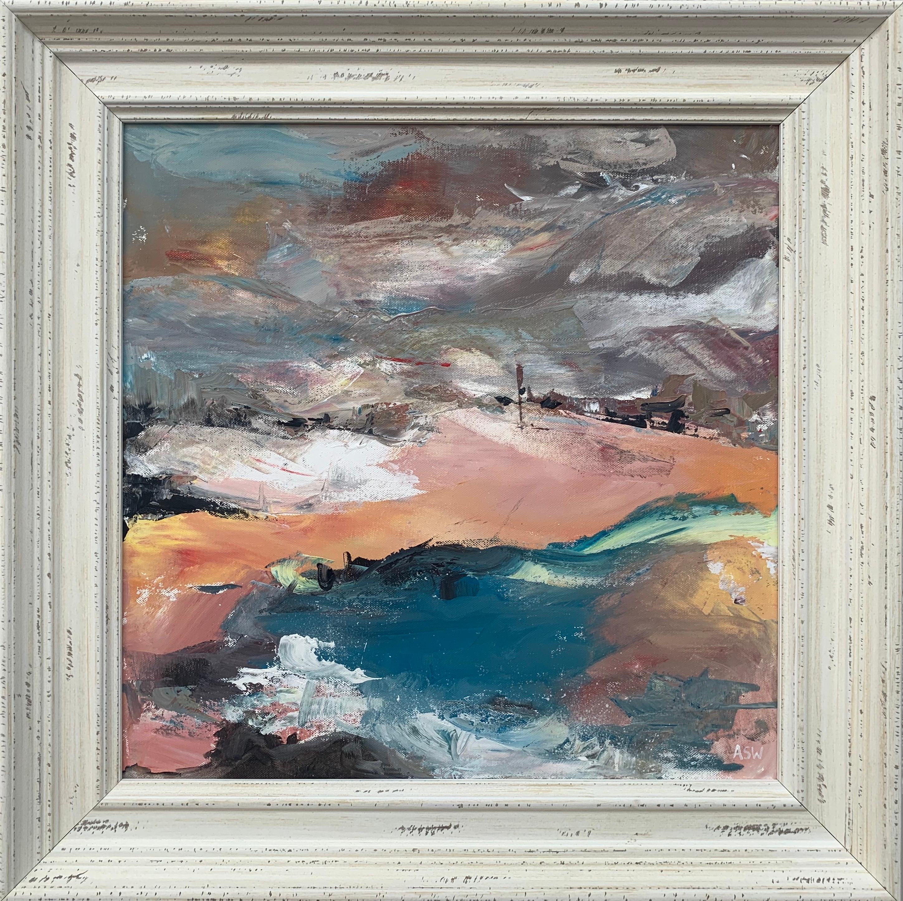 Abstract English Moorland Landscape Earthy Colours Contemporary British Artist