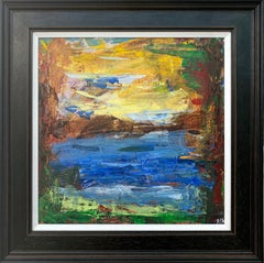 Abstract Expressionist Lake Landscape Painting by Leading British Urban Artist