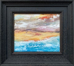 Abstract Landscape Coastal Seascape Painting by Contemporary British Artist