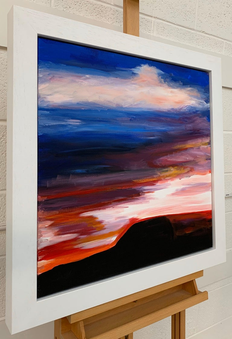 Abstract Landscape Sky Painting of English Countryside by British Urban Artist For Sale 1