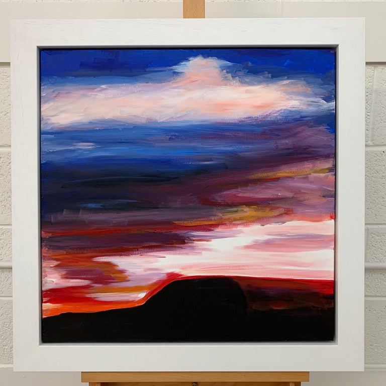 Abstract Landscape Sky Painting of English Countryside by British Urban Artist For Sale 2