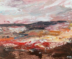 Abstract Landscape Study using Earthy Brown Colours by Leading English Artist