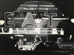 American Diner Americana Series USA by Leading British Urban Landscape Artist