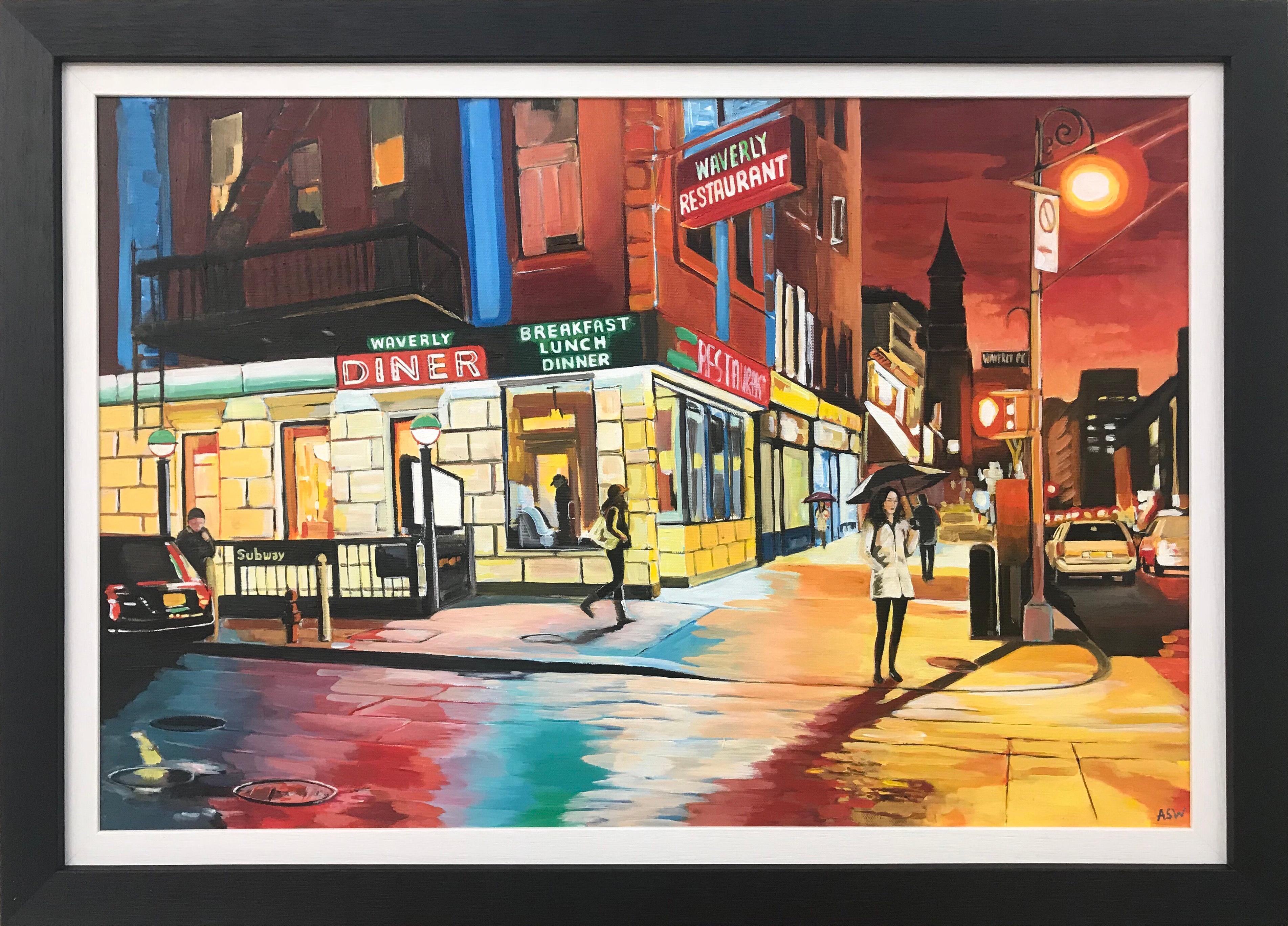 American Diner Greenwich Village 6th Avenue New York City NYC by British Artist
