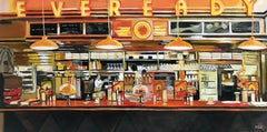 American Diner Still Life Painting by Leading British Urban Landscape Artist