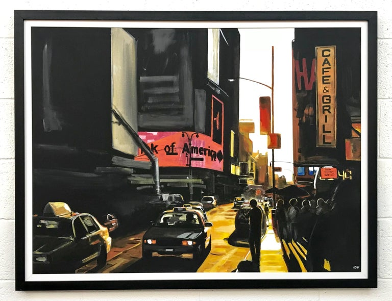 Large Original Painting of Broadway New York City by English Landscape Artist 2