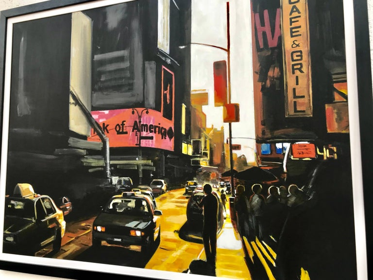 Large Original Painting of Broadway New York City by English Landscape Artist 3