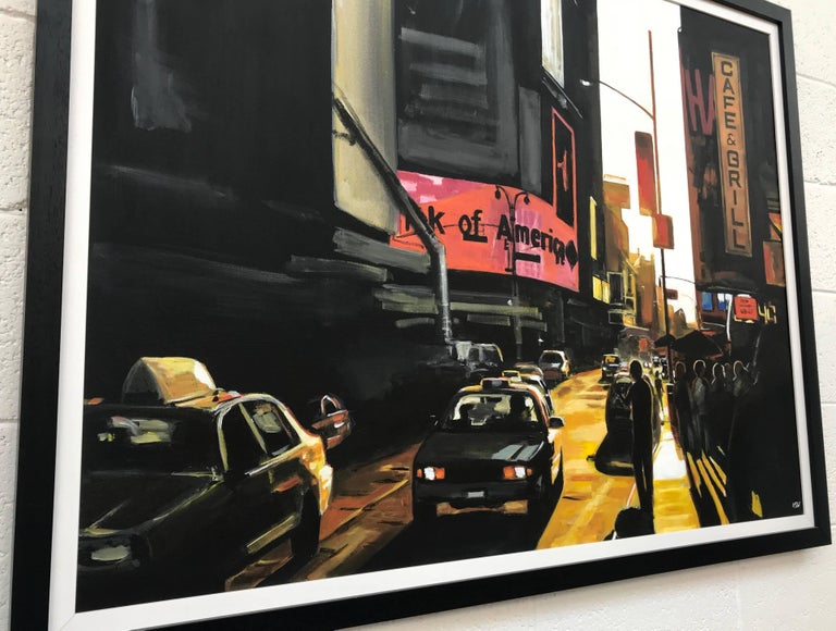 Large Original Painting of Broadway New York City by English Landscape Artist 4