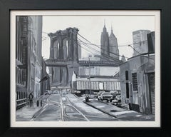 Black & White Brooklyn Bridge New York City by Leading British Urban Artist