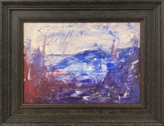 Blue Mountain Abstract Expressionist Painting by Contemporary British Artist