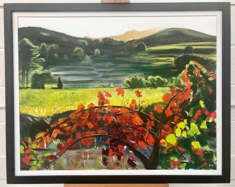 Penedès Vineyard, Spain Landscape Painting British Urban Landscape Artist 2