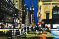 Chrysler Building New York Cityscape Painting by British Urban Landscape Artist