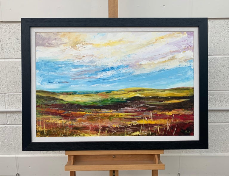 Colourful Abstract Landscape Painting of English Countryside Contemporary Artist For Sale 2