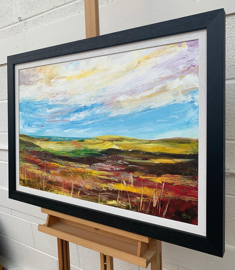 Colourful Abstract Landscape Painting of English Countryside Contemporary Artist For Sale 3