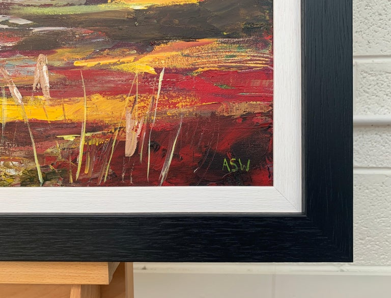 Colourful Abstract Landscape Painting of English Countryside Contemporary Artist For Sale 4