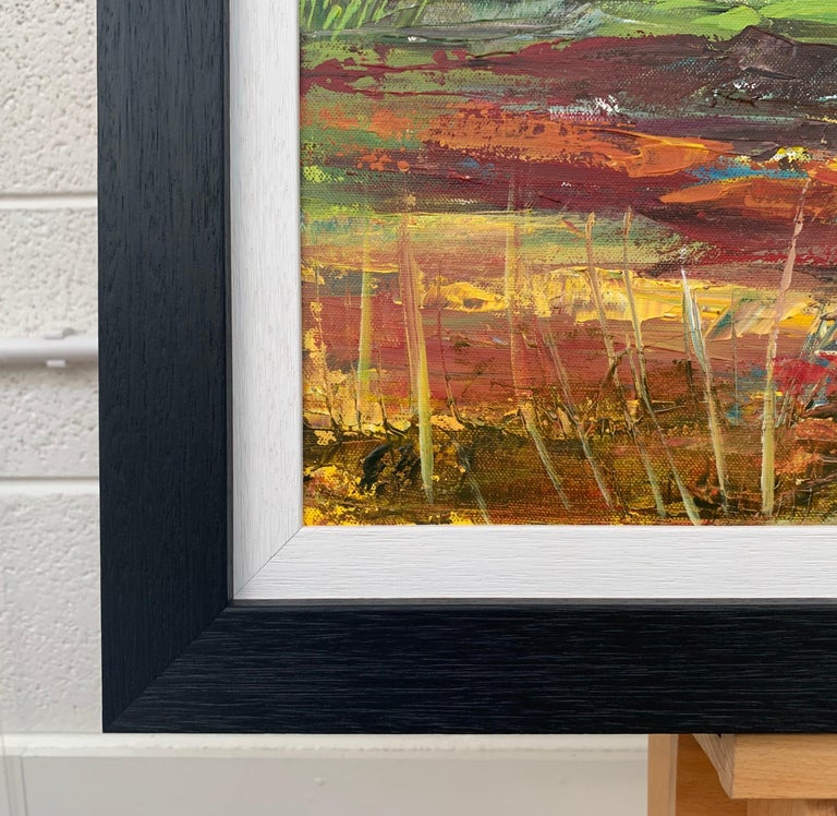 Colourful Abstract Landscape Painting of English Countryside Contemporary Artist For Sale 7