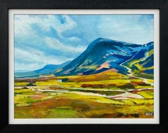 Colourful Abstract Landscape Painting of Scottish Highlands Contemporary Artist