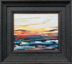 Colourful Abstract Seascape Sunset Study by Leading Contemporary British Artist