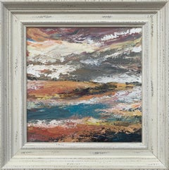 Colourful Expressive Abstract River Landscape Art by Contemporary British Artist