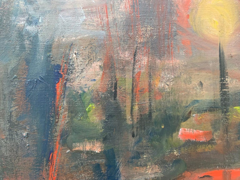Dark & Atmospheric Abstract Expressionist Art by Contemporary British Painter For Sale 2