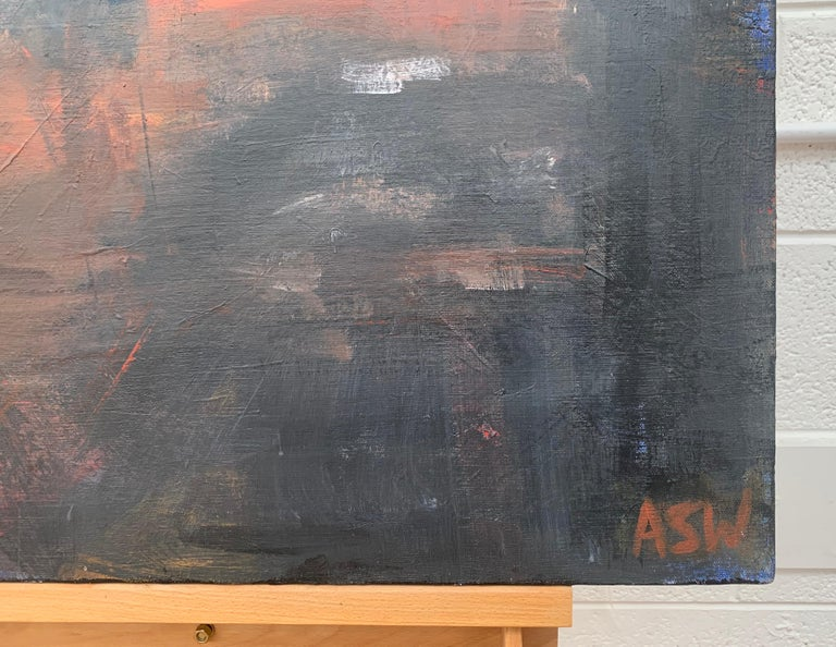 Dark & Atmospheric Abstract Expressionist Art by Contemporary British Painter For Sale 3