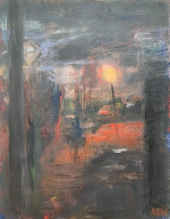 Dark & Atmospheric Abstract Expressionist Art by Contemporary British Painter