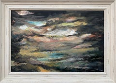 Dark Atmospheric Abstract Landscape Painting by Contemporary British Artist