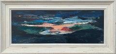 Dark Panoramic Expressive Abstract Mountain Landscape Contemporary British Art