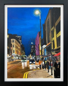 Deansgate in the Rain Manchester City Street Scene England by British Artist
