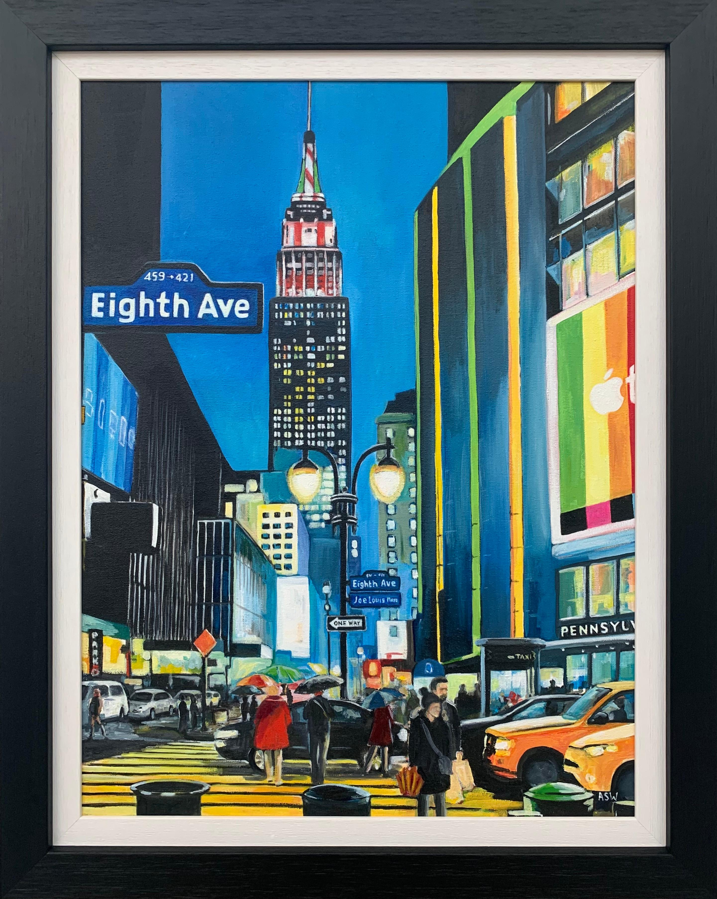 Empire State Building Eighth Avenue New York City by Contemporary British Artist