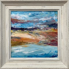 Expressive Abstract River Seascape Landscape by Contemporary British Artist