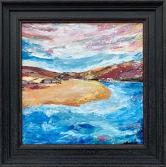 Impressionistic Seascape Beach Landscape Painting by Contemporary British Artist