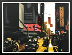 Large Original Painting of Broadway New York City by British Landscape Artist