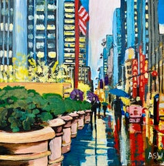 Miniature Painting Radio City Music Hall New York City by British Urban Artist
