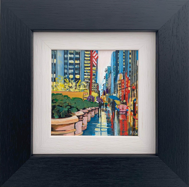 Miniature Painting Radio City Music Hall New York City by British Urban Artist