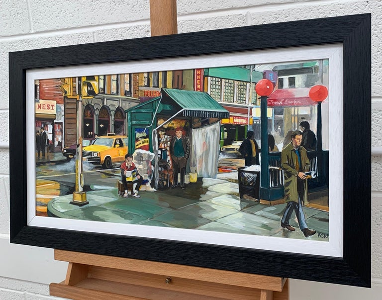 New York City Street Scene Painting by Leading British Contemporary Artist For Sale 2