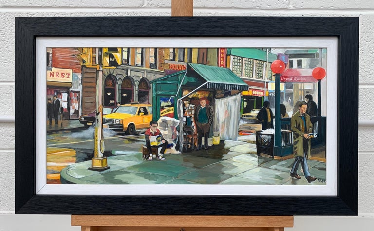 New York City Street Scene Painting by Leading British Contemporary Artist For Sale 1