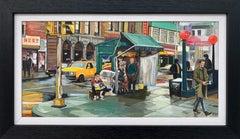 New York City Street Scene Painting by Leading British Contemporary Artist
