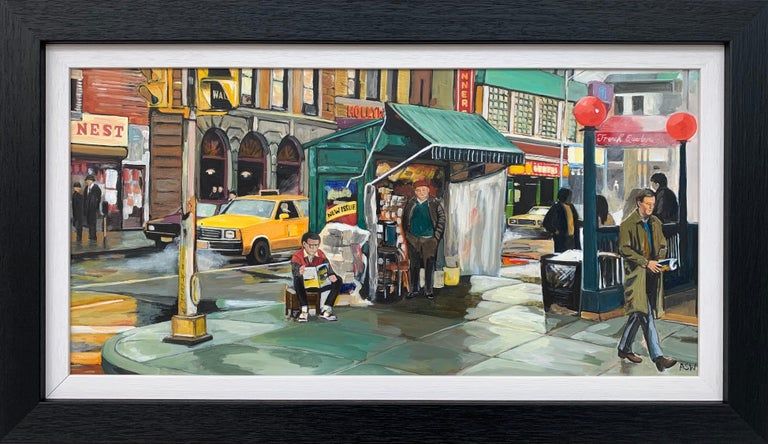 Angela Wakefield Landscape Painting - New York City Street Scene Painting by Leading British Contemporary Artist