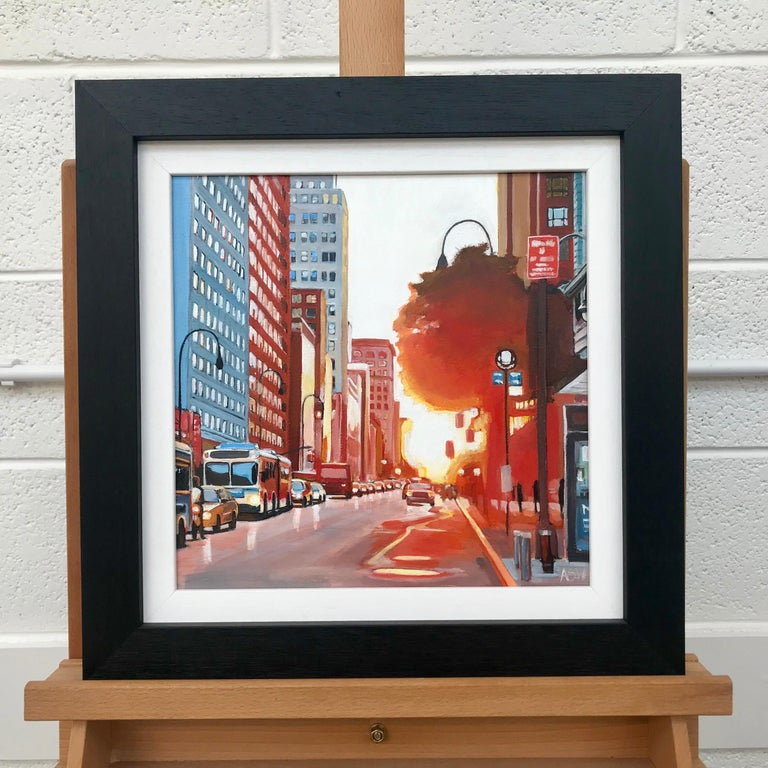 New York Street Scene Urban Landscape Painting from British Artist Collection For Sale 2