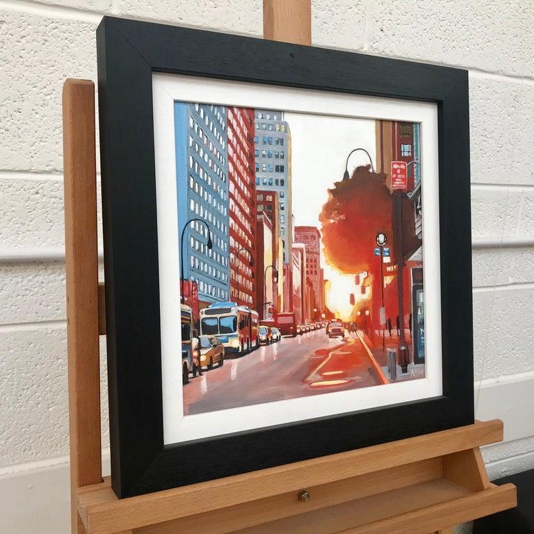 New York Street Scene Urban Landscape Painting from British Artist Collection For Sale 4